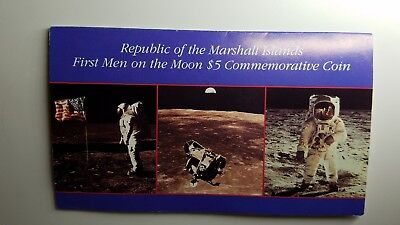 Marshall Island $5 Commemorative Coin   1969 First Man on the Moon