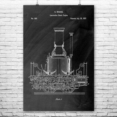 1946 Railroad Domed Observation Train Car Patent Print Art Drawing Poster 18X24