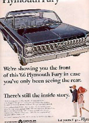 1965 ad of '66 PLYMOUTH FURY (# 2790)