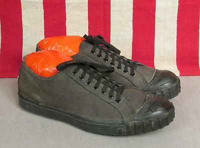 Vintage 1930s Canvas Low-Top Baseball Sneakers Athletic Shoes Sz.8 USA Antique