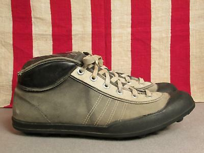 Vintage 1920s Viking Football Rugby Sneakers Canvas Turf Cleats 45 Norway Shoes