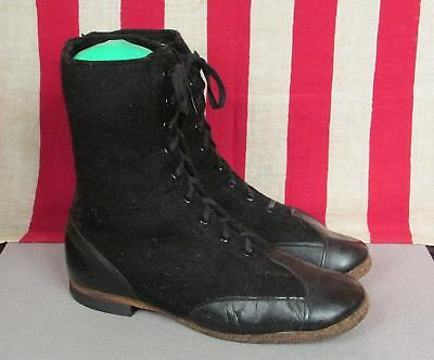 Vintage US Air Force Wool Felt Aviation Flight Boots Military WWII Flyers Nice