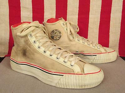 Vintage 1950s BF Goodrich Canvas Basketball Sneakers PF Flyers Athletic Shoes 11