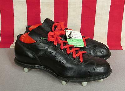 Vintage 1960s Wilson Black Kangaroo Leather Football Shoes Cleats Low NOS Sz.6