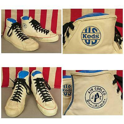 Vintage 1940s US Keds & Penneys Canvas Basketball Sneakers Matched Pair Sz.12