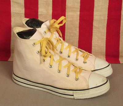 Vintage Mile 1933 Canvas Basketball Sneakers Athletic Shoes High Top Sz.8 Mint