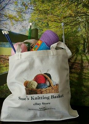 Canvas Tote Bag - Knitting/Crafts