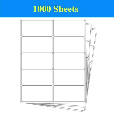 "10000 Labels 2"" x 4"" White Self Adhesive 10 Up 1000 Sheet Shipping Address Label"