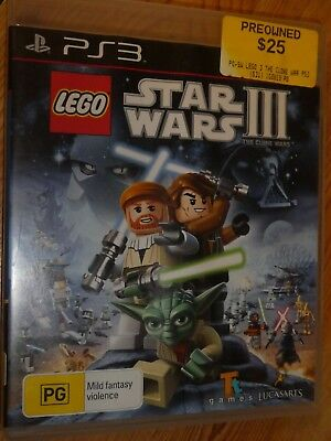 LEGO, Star Wars 3, PS3 Game, Playstation 3, h2