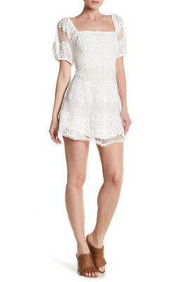c60f10dad77 NWT FREE PEOPLE BE YOUR BABY WHITE LACE BABYDOLL DRESS Sz XS Ivory ...