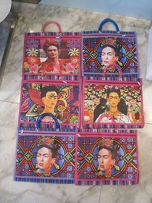 Frida Kahlo TOTE BAG with ZIP Pocket & short handles Colourful and Bright