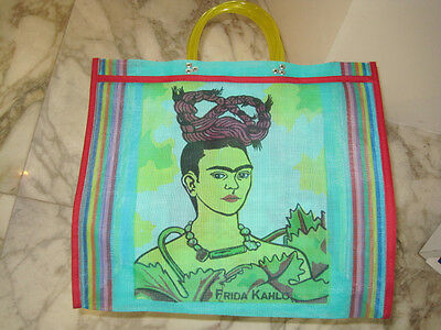 Frida Kahlo Casual Shopping or Carry Bag with Different Frida Image on each side