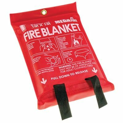 MEGAFire FIRE BLANKET 1x1m Suitable For Stove Top Fires *Australian Brand