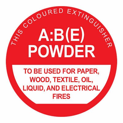 MEGAFire ABE POWDER FIRE EXTINGUISHER IDENTIFICATION SIGN 190x190mm *Aust Brand