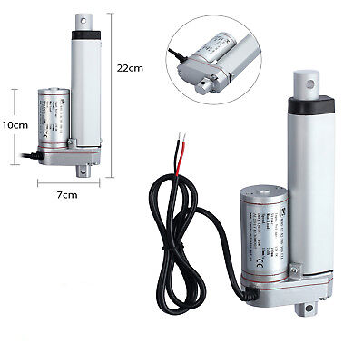 DC 12V 750N Linear Actuator Motor 4 inch For Auto Car RV Electric Door Opener UK