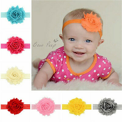 12pcs Kids Girl Baby Headband Toddler  Flower Hair Band Headwear Accessories  KZ