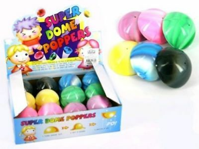 Pop Ball 55Mm 1 Pc Swirly Colours Super Dome Popper Push Fly Novelty Toy Kids