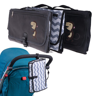 Baby Portable Diaper Pad Bag Waterproof Travel Nappy Changing Mat Wallet Style