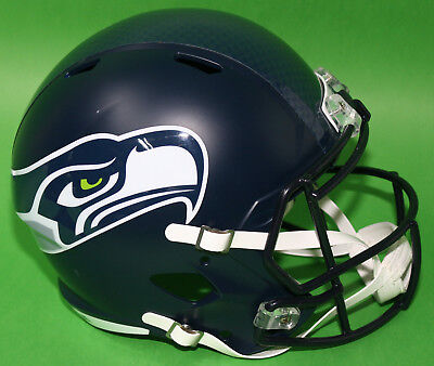 RIDDELL Deko NFL Helm Full size Football-Helm ** Seattle Seahawks ** - Blau