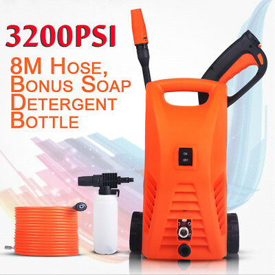 2400W Electric High Pressure Washer Water Cleaner Gurney Hose Gun Pump Cleaning