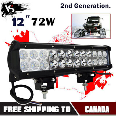 12inch LED Light Bar Spot & Flood Combo Off road Truck Boat Jeep Ford SUV