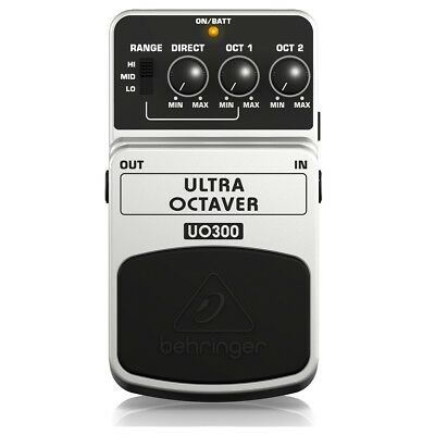 Behringer UO300 Ultra Octave Stompbox Guitar Effects Pedal