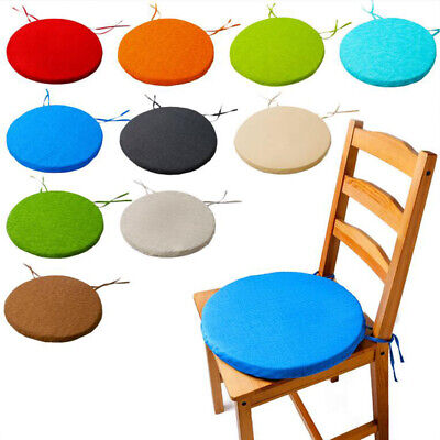 Tie On Chair Cushion Round Cushion Patio Office Chair Indoor Dining Seat Pad