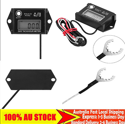 1x Digital Tachometer Tach/Hour Meter Gauge RPM Tester for 2/4 Stroke Engine EM