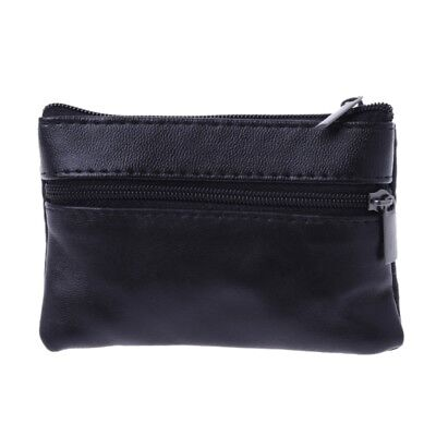 Men Women Soft Card Coin Key Holder Zip Leather Wallet Pouch Bag Purse Gift New