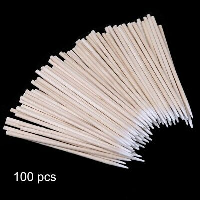 100 X Cotton Disposable Stick Clean Tool for AirPods Earphone Phone Charge Port