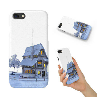 Snow House Hard Phone Case Cover For Apple Iphone
