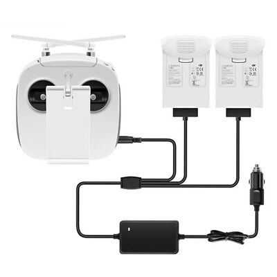 For DJI Phantom 4 Pro+ Adv Drone 3 in 1 Dual Battery Remote Control Car Charger