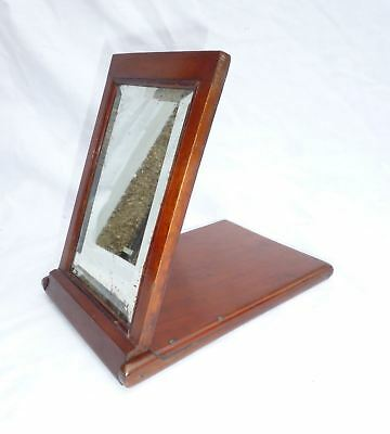 19thC Antique Campaign Folding Box Mirror