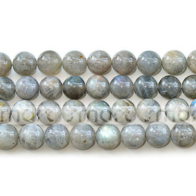 "Natural Labradorite Round Loose Gemstone Beads 15.5"" Inches Strand 6 8 10 12mm"