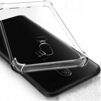 For OnePlus 6 3 5 T ShockProof Luxury Transparent Soft Silicone TPU Case Cover