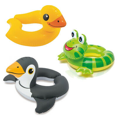 Animal Swim Ring Kids Inflatable Pool Float Swimming Baby Toddler Water Learning