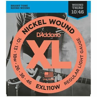 D'Addario  EXL110W Nickel Wound Light (wound 3rd) Electric Strings 10 - 46