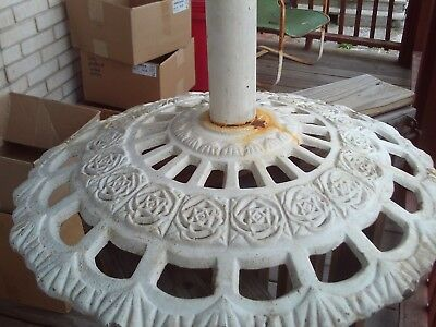 pick up only antique painted cast iron umbrella stand picnic table umbrella