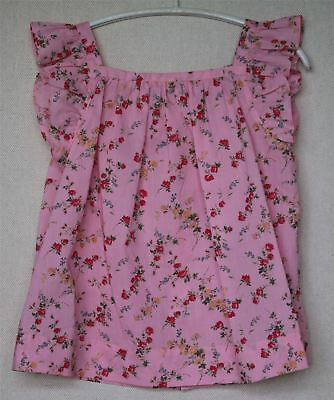 Bonpoint Girls Pink Floral Elise Top 4 Years
