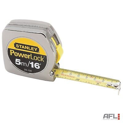 Stanley Tools 033158 Powerlock Tape Measure Metric/Imperial 5m/16ft - 19mm Wide