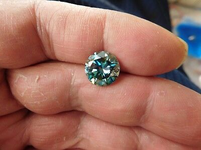 Fiery 4.60 ct White Blue Color Round Loose Moissanite VVS1 10.90 mm