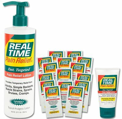 Real Time Pain Relief Pain Relief Cream, Convenience Pack
