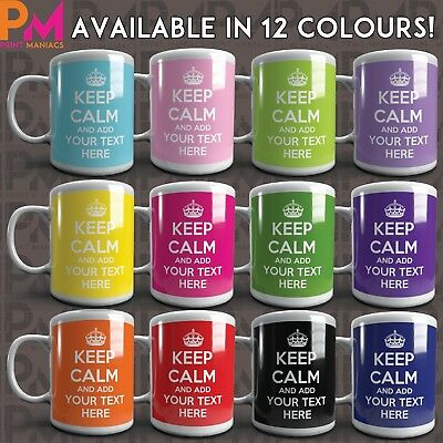Keep Calm Personalised Mug Mum Dad His Her Mummy Daddy Cup Any Name Or Message
