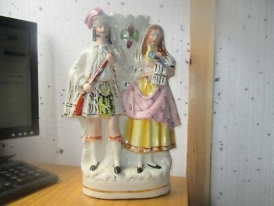 """Large Victorian Staffordshire figure group 1875  100% Genuine 15"""" tall"""