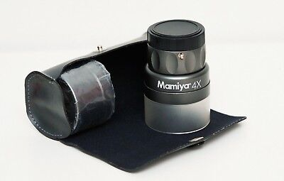 MAMIYA 4X LOUPE MAGNIFIER  LOUPE with CASE in Excellent condition