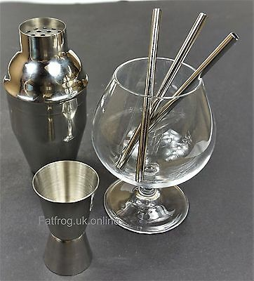 SHORT 12.5cm Straight Metal Drinking Straw Stainless Steel Reusable eco Straws