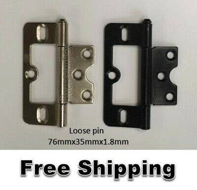 76mm Hirline Door Hinge Non Mortise Mortice Butt Flush Cabinet Window