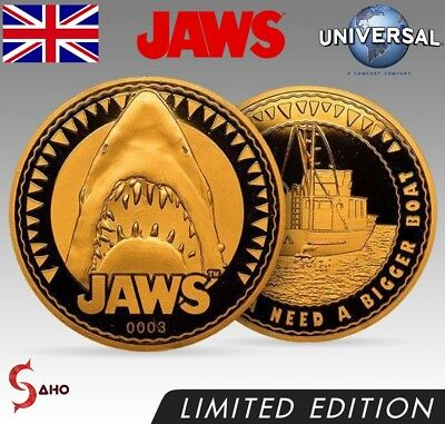 JAWS COLLECTORS EDITION COIN: GOLD VARIANT No. 0998 (LIMITED TO 1000) EXCLUSIVE