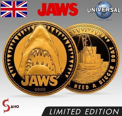 JAWS COLLECTORS EDITION COIN: GOLD VARIANT No. 0156 (LIMITED TO 1000) EXCLUSIVE