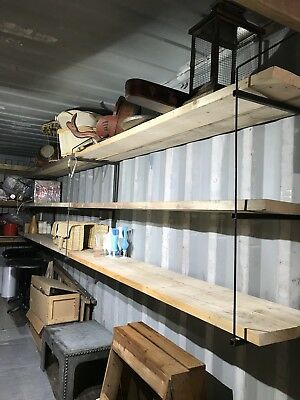 Shipping Container Shelving 3x D Ring Brackets INCLUDING Timber